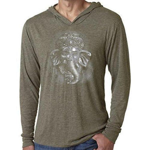 Mens 3D Ganesh Thin Hoodie Tee Shirt - Yoga Clothing for You - 5