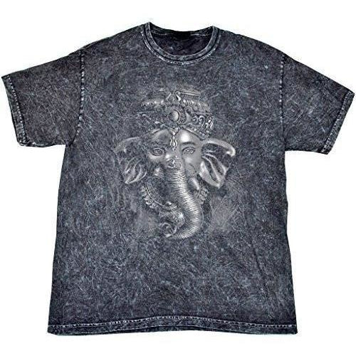 Yoga Clothing for You Mens 3D Ganesha Tie Dye Tee Shirt