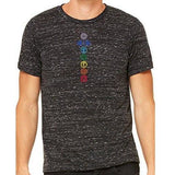 Mens 7 Colored Chakras Marble Tee Shirt - Yoga Clothing for You - 1