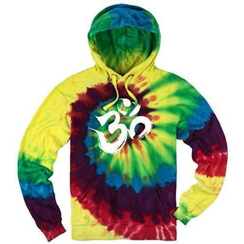 Mens Tie Dye Brushstroke AUM Hoodie - Yoga Clothing for You