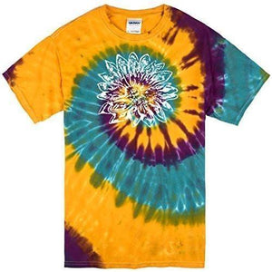 Mens Sketch Lotus Tie Dye Tee - Yoga Clothing for You - 4