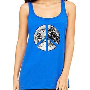 Womens Relaxed Peace Earth Tank Top - Yoga Clothing for You - 4