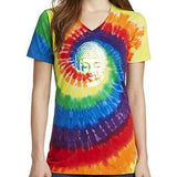 Womens Little Buddha Tie Dye V-neck Tee Shirt - Yoga Clothing for You - 7