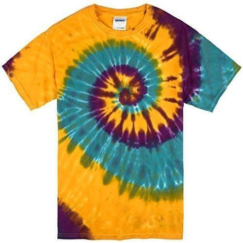 Yoga Clothing for You Mens Mardi Gras Tie Dye Tee Shirt