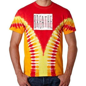 "Mens ""Breathe"" V-Dye Tee Shirt - Yoga Clothing for You - 3"