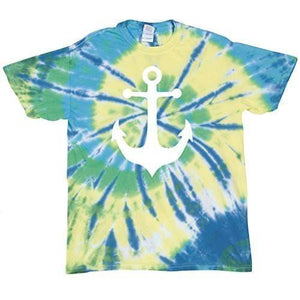 Mens Anchor Tie Dye Tee Shirt - Yoga Clothing for You - 4