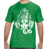 Mens Big Ganesha Organic Tee Shirt - Yoga Clothing for You - 5