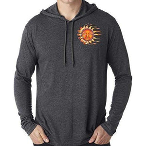 Mens Sleeping Sun Hoodie Tee Shirt - Pocket Print - Yoga Clothing for You - 4