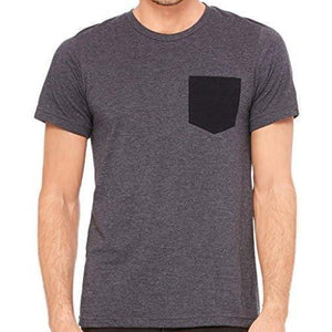 Mens Contrasting Color Pocket Tee Shirt - Yoga Clothing for You - 4