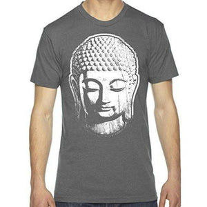 Mens Big Buddha Head Lighweight Tee Shirt - Yoga Clothing for You - 2