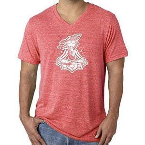 "Mens ""Krishna"" V-neck Tee Shirt - Yoga Clothing for You - 13"