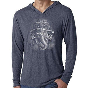 Mens 3D Ganesh Thin Hoodie Tee Shirt - Yoga Clothing for You - 2