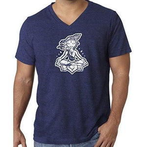 "Mens ""Krishna"" V-neck Tee Shirt - Yoga Clothing for You - 11"