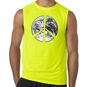 "Mens ""Peace Earth"" Muscle Tee Shirt - Yoga Clothing for You - 7"