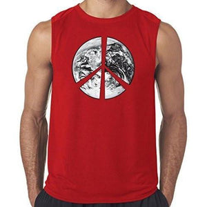 "Mens ""Peace Earth"" Muscle Tee Shirt - Yoga Clothing for You - 5"