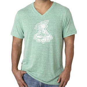 "Mens ""Krishna"" V-neck Tee Shirt - Yoga Clothing for You - 9"