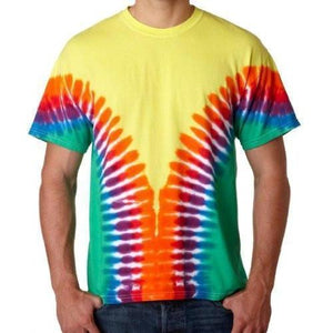 Mens Multi-Color V-Dye Tee Shirt - Yoga Clothing for You - 2