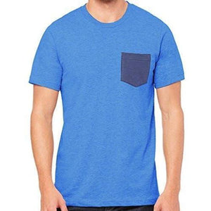 Mens Contrasting Color Pocket Tee Shirt - Yoga Clothing for You - 2