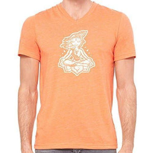 "Mens ""Krishna"" V-neck Tee Shirt - Yoga Clothing for You - 12"