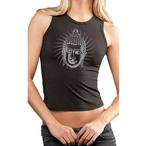Ladies Iconic Buddha Cropped Yoga Tank Top - Yoga Clothing for You