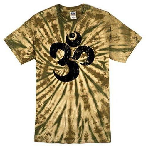 Yoga Clothing for You Mens Black Distressed OM Tee Shirt