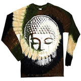 Mens Big Buddha Head Long Sleeve Tee Shirt - Yoga Clothing for You - 2