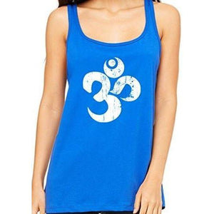 Womens Relaxed Distressed Om Tank Top - Yoga Clothing for You - 4
