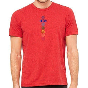 Mens 7 Colored Chakras Marble Tee Shirt - Yoga Clothing for You - 6