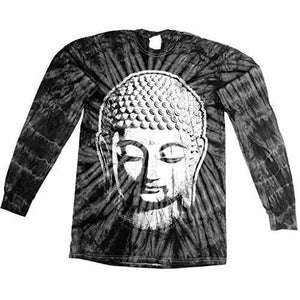Mens Big Buddha Head Long Sleeve Tee Shirt - Yoga Clothing for You - 9