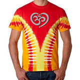 Mens OM Heart V-Dye Tee Shirt - Yoga Clothing for You - 2