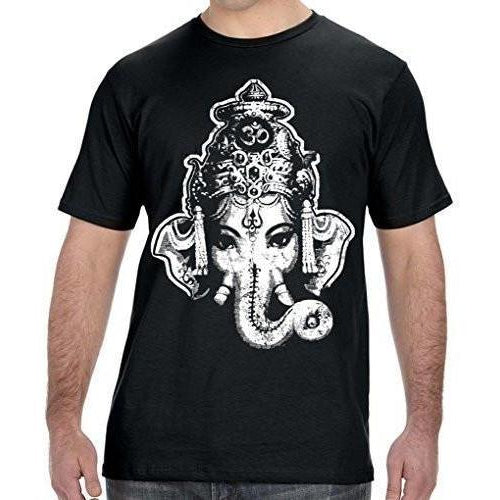 Mens Big Ganesha Organic Tee Shirt - Yoga Clothing for You - 1