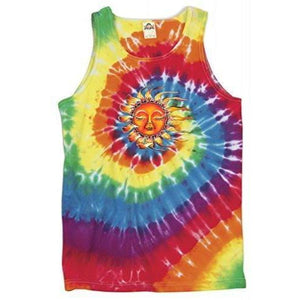 Mens Sleeping Sun Tie Dye Tank - Yoga Clothing for You