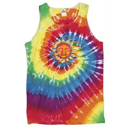 Yoga Clothing for You Mens Sleeping Sun Tie Dye Tank