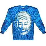 Mens Big Buddha Head Long Sleeve Tee Shirt - Yoga Clothing for You - 14