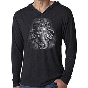 Mens 3D Ganesh Thin Hoodie Tee Shirt - Yoga Clothing for You - 6