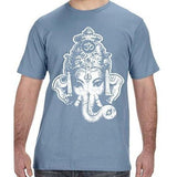 Mens Big Ganesha Organic Tee Shirt - Yoga Clothing for You - 10
