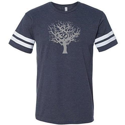 Mens Tree of Life Striped Tee Shirt - Yoga Clothing for You - 1