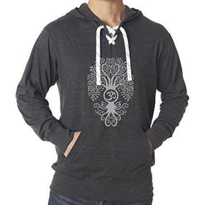 Mens Bodhi Tree Lace Hoodie Tee - Yoga Clothing for You - 3
