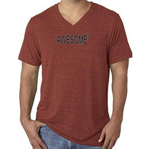 Mens Awesome Cubed V-neck Tee Shirt - Yoga Clothing for You - 4