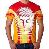 Mens Big Buddha Head V-Dye Tee Shirt - Yoga Clothing for You - 2