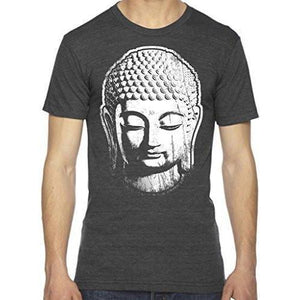 Mens Big Buddha Head Lighweight Tee Shirt - Yoga Clothing for You - 3