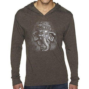 Mens 3D Ganesh Thin Hoodie Tee Shirt - Yoga Clothing for You - 3