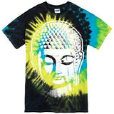 Mens Big Buddha Head Tie Dye Tee Shirt - Yoga Clothing for You - 2
