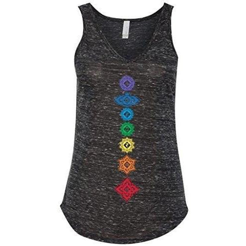 Yoga Clothing for You Ladies Floral 7 Chakras Flowy Tank Top