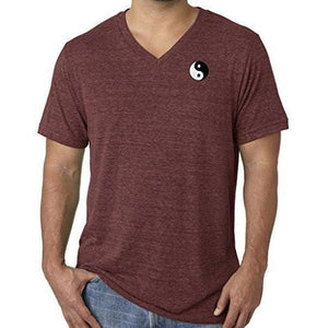 Mens Yin Yang Patch V-neck Tee Shirt - Pocket Print - Yoga Clothing for You - 10