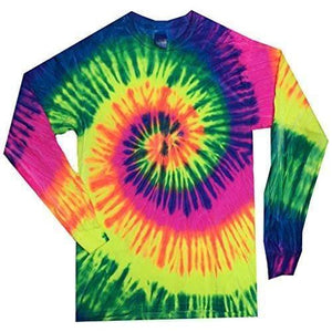 Mens Tie Dye Long Sleeve Tee Shirt - Yoga Clothing for You - 5