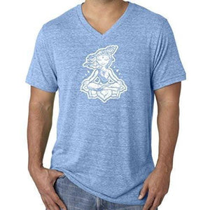 "Mens ""Krishna"" V-neck Tee Shirt - Yoga Clothing for You - 4"