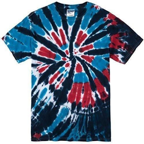Mens Americana Tie Dye Tee Shirt - Yoga Clothing for You