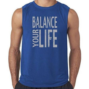 "Mens ""Balance"" Muscle Tee Shirt - Yoga Clothing for You - 5"