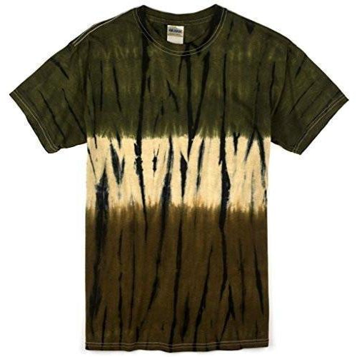 Mens Camo Tree Tie Dye Tee Shirt - Yoga Clothing for You